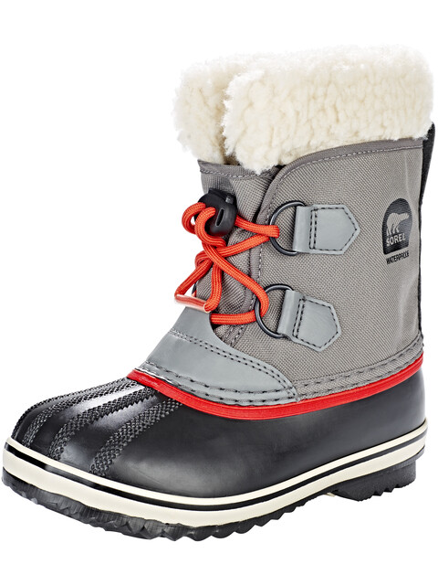 Sorel Yoot Pack Nylon Boots Children Quarry/Sail Red
